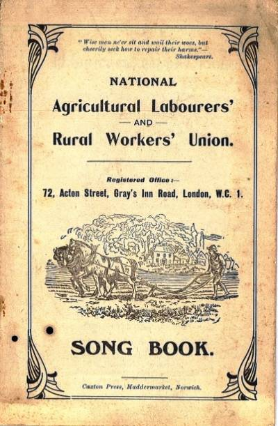 Cover of the National Agricultural Labourers' and Rural Workers' Union Song Book