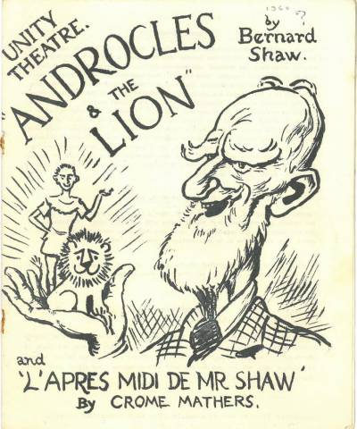 Programme for London Unity Theatre production of Androcles and the Lion