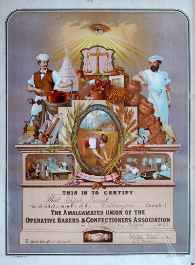 Bakers' union emblem