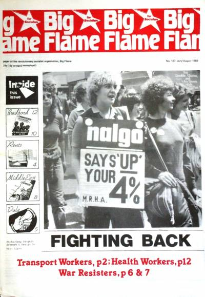 Front cover of Big Flame No 107, Jul/Aug 1982