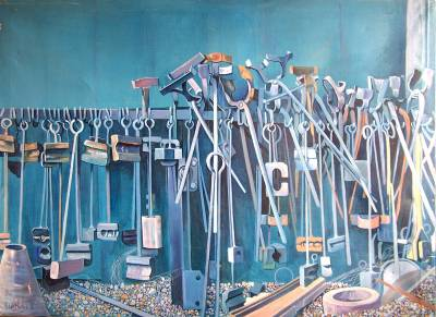 Blacksmith's Rack, oil painting