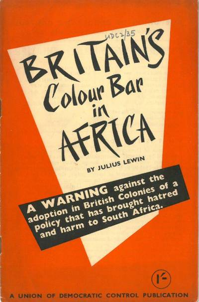 Cover of Britain's Colour Bar in Africa