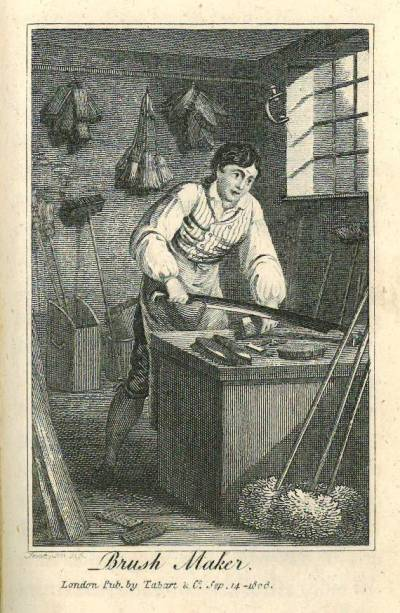 Image of a Brushmaker from the Book of Trades, 1806
