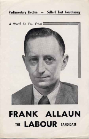 Frank Allaun election leaflet