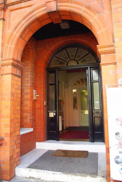 Front door of the Working Class Movement Library
