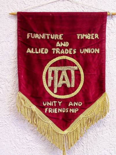 Furniture Timber and Allied Trades Union banner