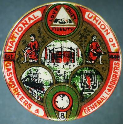 National Union of Gasworkers and General Labourers badge