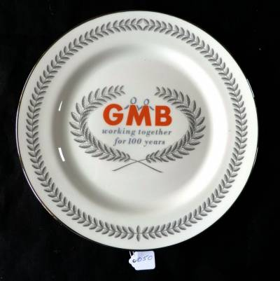 GMB centenary plate