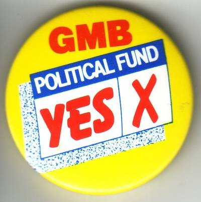GMB political fund ballot badge