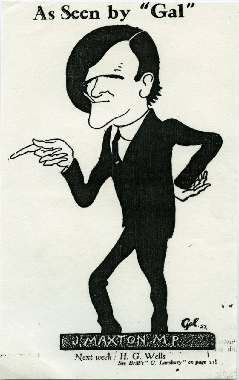 Cartoon of Maxton