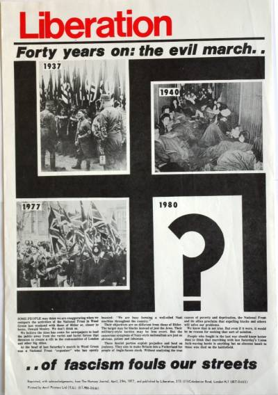Liberation: forty years on - the evil march poster