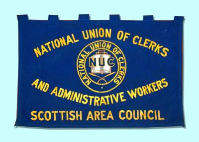 National Union of Clerks and Administrative Workers Scotland Area Council banner