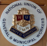 National Union of General and Municipal Workers Union plaque