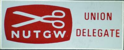 National Union of Tailors and Garment Workers delegate badge
