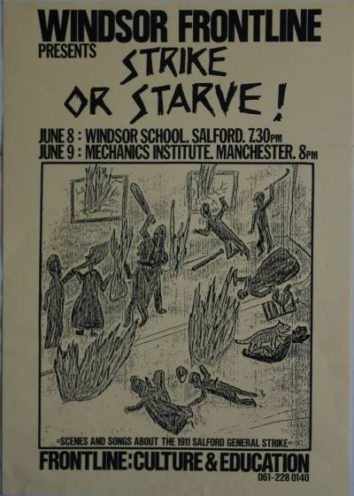 Poster advertising Strike or Starve