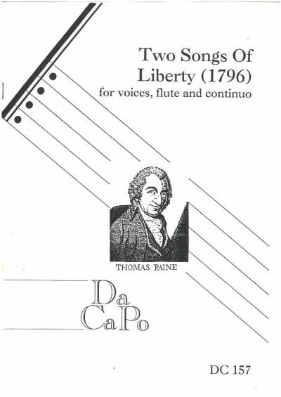 Cover of a modern printing of Two songs of liberty