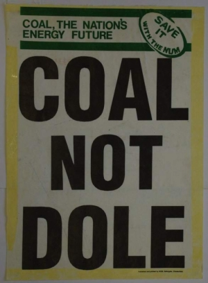 coal not dole poster