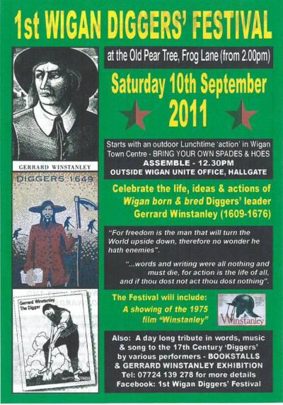 Flyer for the first Wigan Diggers Festival, 2011