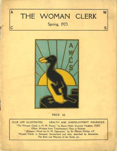 Front cover of The Woman Clerk for Spring 1923